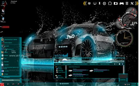 neon themes for windows 10 nissan gtr r35 blue neon custom windows 7 theme