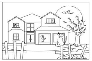 house colouring free house outline images coloring pages