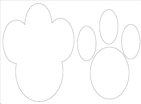 paw print template r r creations happy easter diy bunny paw prints