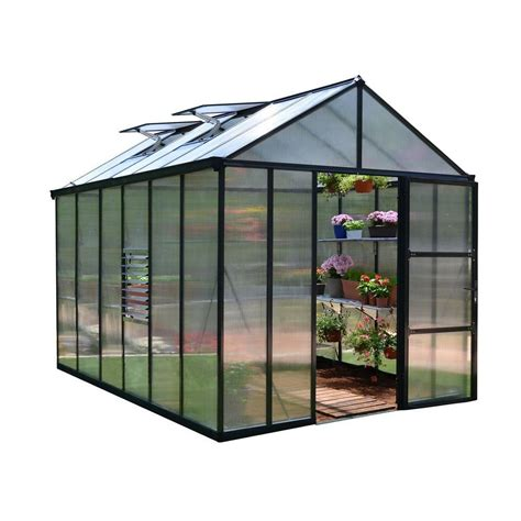 Small Greenhouses Home Depot Palram Premium Class 8 Ft X 12 Ft Greenhouse