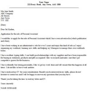 Uk Cover Letter Exles by Personal Assistant Cover Letter Exle Icover Org Uk
