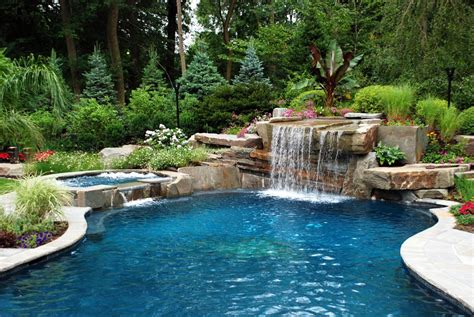 pool waterfall ideas pool landscaping testimonials cipriano landscape design