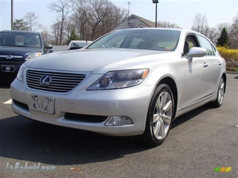 2008 lexus ls 600h l hybrid in mercury silver metallic