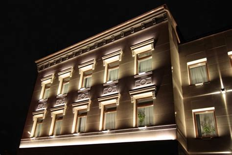 Facade Lighting Fixtures Architectural Lighting Of The Office Building Facade