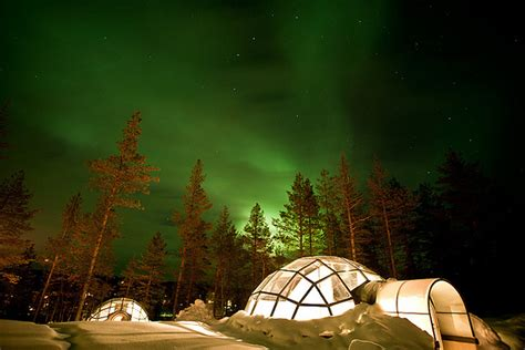 these heated glass igloos are the place to witness
