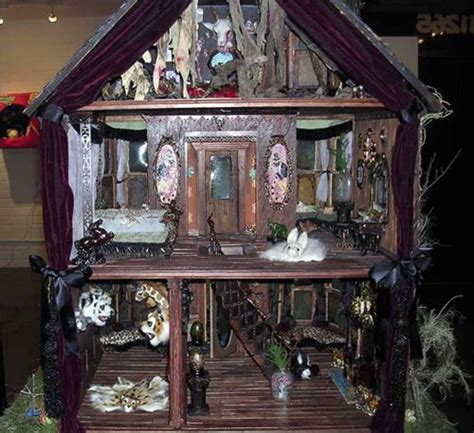 halloween doll house haunted doll house monster high ooak pinterest