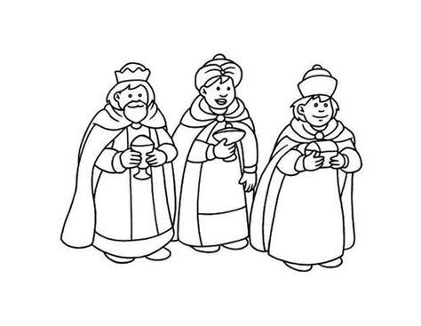 imagenes de reyes magos para niños dibujos para colorear de los reyes magos pequeocio