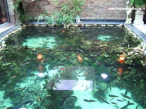 indoor fish pond indoor pond from second angle home design ideas 2015
