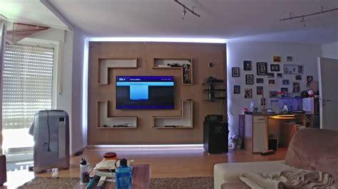 tv wand bauen stein tv wand selber bauen diy