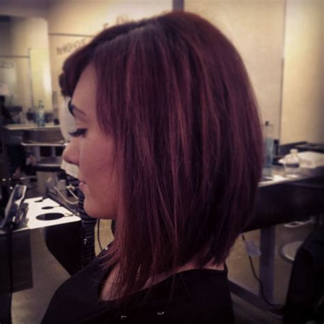 trangole face medium lenght the latest haircut 1000 ideas about one length hairstyles on pinterest