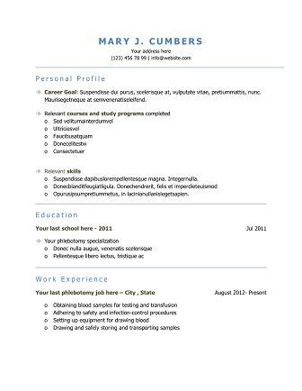 templates resumes get noticed 10 free phlebotomy resume templates to get you noticed now inspiring ideas