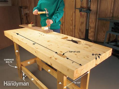 build  work bench   budget  family handyman