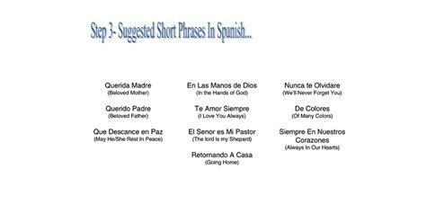 3 easy spanish short step 3 suggested short phrases in spanish