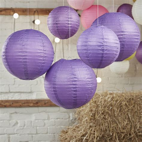 D 7 5cm Paper Lantern Purple purple and wedding paper hanging lanterns by