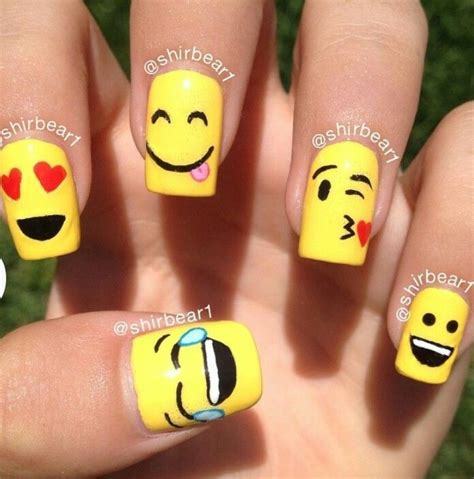 Cool Nail Designs by Cool Emoji Nail Nails And Toes Big