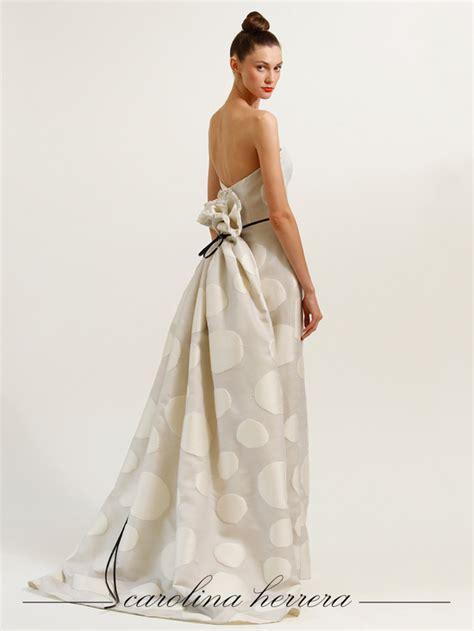 Brautkleid Mittellang by Ivory Polka Dot Carolina Herrera Wedding Dress