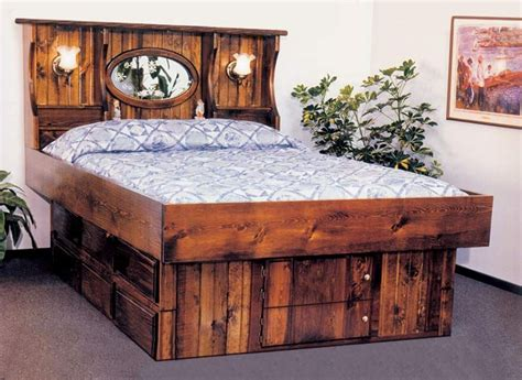 king crestwood wood frame waterbed with 12 drawer pedestal water beds more waterbed frame