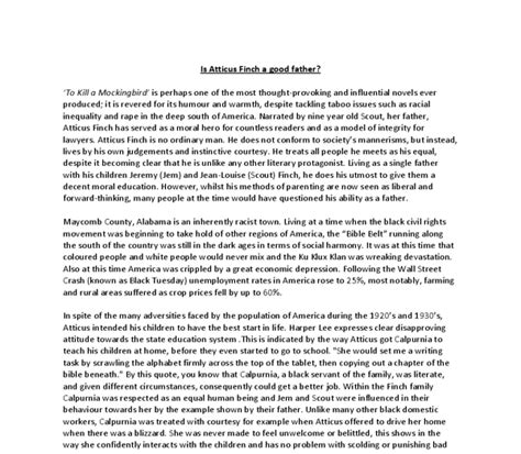 To Kill A Mockingbird Analytical Essay by To Kill A Mockingbird Atticus Essay To Kill A Mockingbird Literary Analysis Essay Prompt And