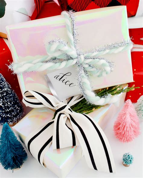 holiday gift wrap pairings