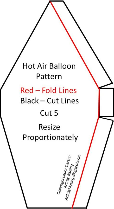 pattern for paper hot air balloon hot air balloon air balloon and balloons on pinterest