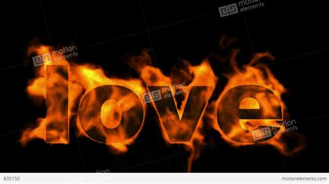 burning love mp burning love text in flames stock animation 835150