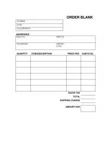 Free Printable Order Form Template by 9 Best Images Of Free Printable Blank Order Form Template