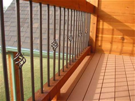 Iron Pickets For Decks Metal Deck Rail Deck Railing Ideas