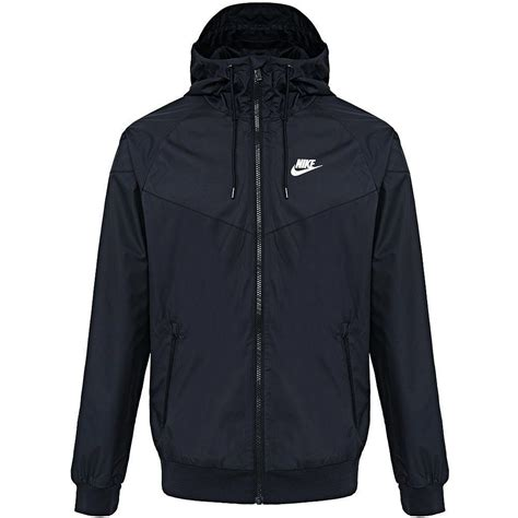 nike windbreaker nike windrunner hoody jacket black white windbreaker
