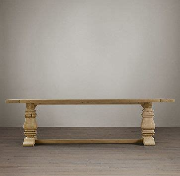 salvaged wood trestle extension dining table traditional