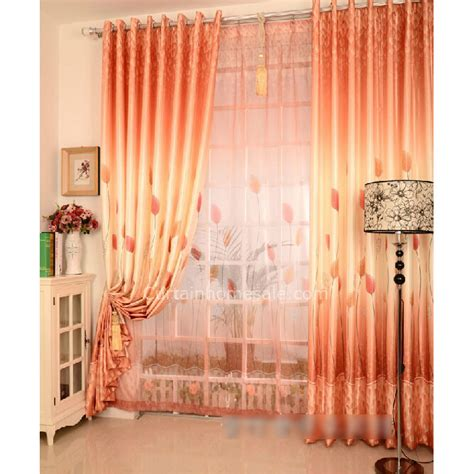 orange colored curtains orange color leaf image different style of curtains