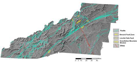 earthquake north carolina faults and earthquakes western north carolina vitality index