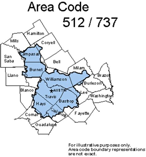 area code map texas texas area codes 512 737