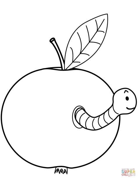eaten apple coloring page 92 eating apple coloring page fruit coloring pages