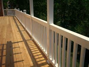 Porch Banister by Bidirectional Deck Stairs St Louis Decks Screened