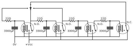 relay capacitor oscillator details spdt16 16 bits arithmetic unit with relays hackaday io