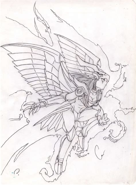 coloring pages winged dragon of ra yugioh gendersw the winged dragon of the ra by rasec dragon 91
