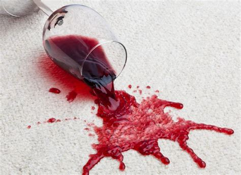 remove red wine stains   carpet