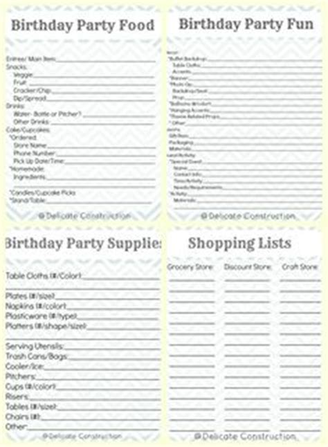 1000 Images About Holiday Birthday Event Planner Budget Printables On Pinterest Party Birthday Event Planner Template