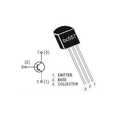 bc557 transistor 45v 0 1a pnp la tronics