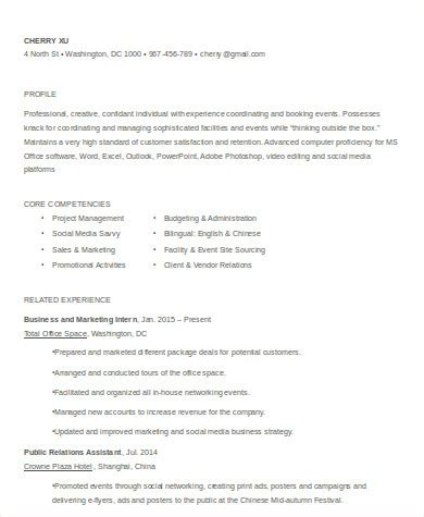 Event Coordinator Resume by 8 Sle Event Coordinator Resumes In Word Pdf Sle