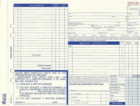 Download Auto Repair Forms Template Rabitah Net Repair Shop Work Order Template