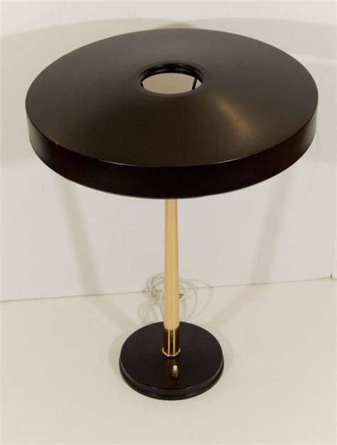 black and brass desk l black and brass philip kalff desk l for sale at 1stdibs