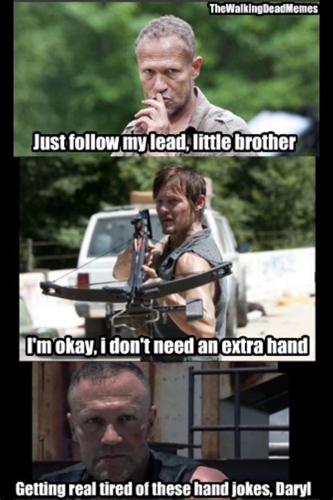 The Walking Dead Funny Memes - merle doesn t find daryl funny the walking dead