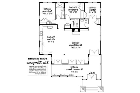 craftsman home floor plans craftsman house plans glen 50 017 associated designs