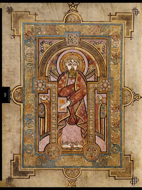pictures of the book of kells portrait of st matthew the book of kells is many things