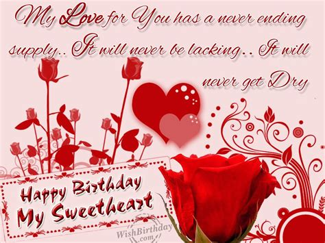 Happy Birthday Wishes In For Lover Funny Love Sad Birthday Sms Birthday Wishes To Lover