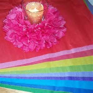 How To Make Tissue Paper Centerpieces - tissue paper pom pom centerpiece pegsgottado