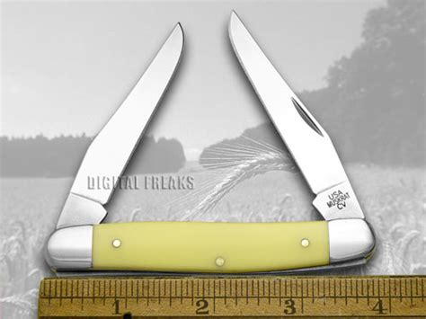 muskrat pocket knife history xx smooth yellow delrin muskrat cv pocket knives