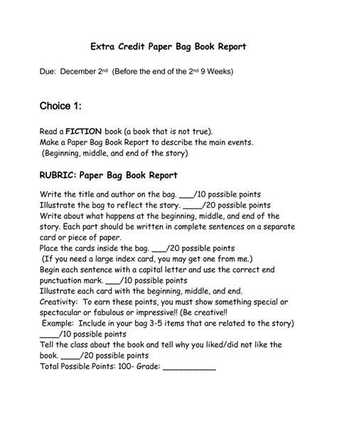 book report paper paper bag book report classroom ideas