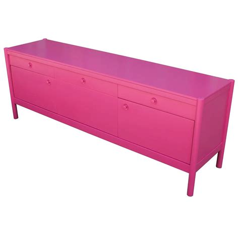 sideboard pink bold loud pink lacquered sideboard for sale at 1stdibs